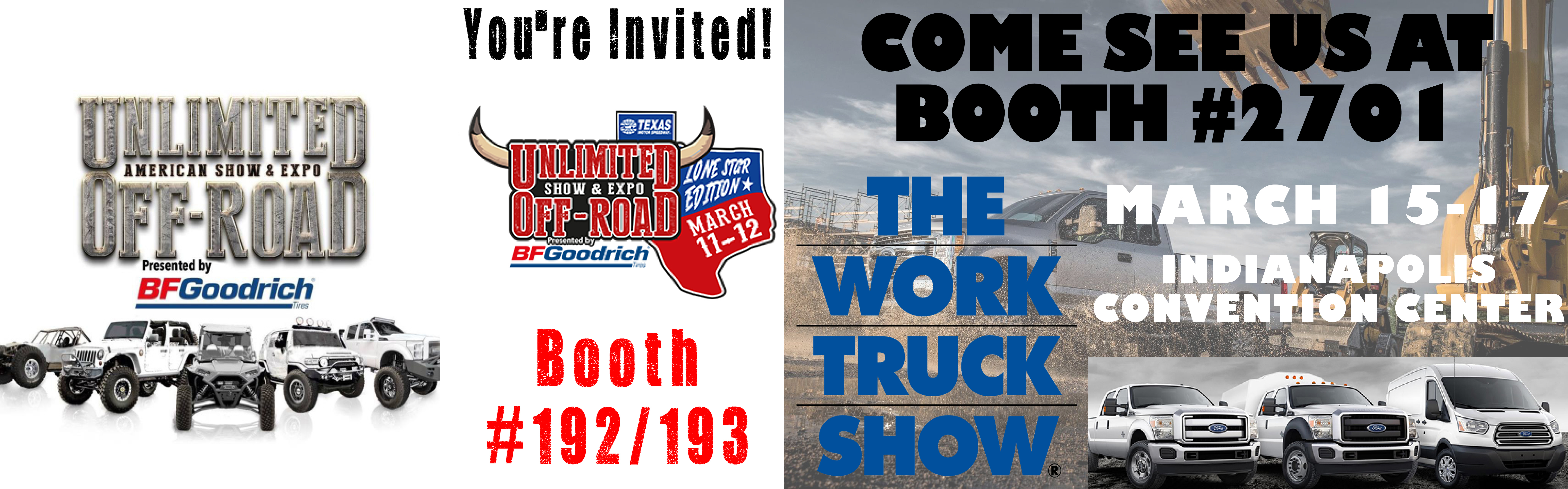 Unlimited Off Road Expo, NTEA, Work Truck Show, Ft. Worth, Texas, Indianapolis, Indiana